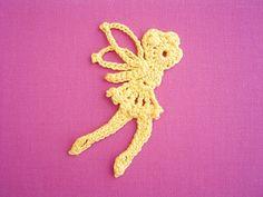 ティンカーベルのモチーフ(編み図付き・妖精・フェアリー) : Crochet a little