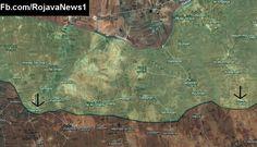 Situation in northern #Aleppo after #FSA captured Bahrita and Sandi. #ISIS #IS #Daesh #Syria #Rojava #YPG #SDF #TwitterKurds @CivilWarMap