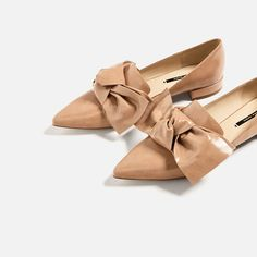 Image 7 of FLAT SHOES WITH BOW DETAIL from Zara