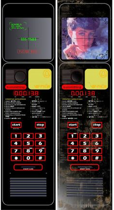 Blade Runner - vid phon face plate cleand and dirt