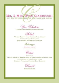 Beach Wedding Reception Menu Elegant And Simple For Bridal Luncheons Showers