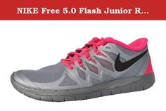 competitive price 30d7e 1a1d9 NIKE Free Flash Junior Running Shoe, Silver Pink, 6 US. Textile Imported  rubber sole Classic Look Authentic.