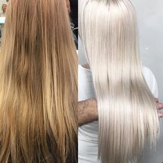 Loving @gagon_100 formula for this winter white. Olaplex to keep her healthy and shining bright!   Loreal Platinum Plus+30vol(9%)+Olaplex. Starting with mid-shaft towards the ends, processed for 20 minutes. Then applied to the regrowth  and through the ends. Processed for another 20 minutes. Rinsed & applied Olaplex No.2, processed for 20min. Shampooed & conditioned with Kerastase. Toner: Loreal Dialight 10.13+10.12+15vol(5%), processed for 20min. #olaplex #modernsalon #platinum #blonde