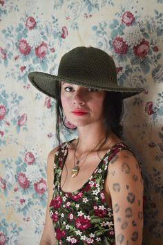 Sun hat  Cotton Hat  Summer Hats for Women  by ArtandFoundApparel