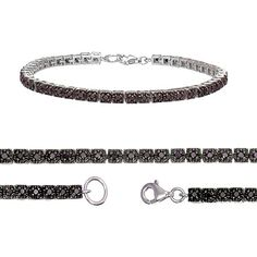Sterling Silver Black Diamond Bracelet (1 CT). The Black Diamonds are Heat Treated. The minimum total diamond carat weight is 0.96 CT. This product comes with a 90 day seller warranty....