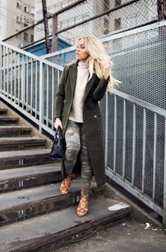 Dare to wear camouflage this winter!Angelica Blickis rocking...