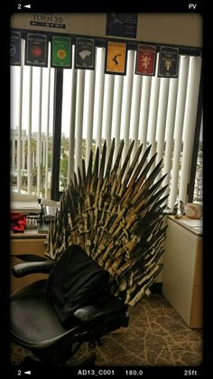 DIY Iron Throne  Game of Thrones  Lannister  Office