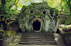 The Orcus Mouth in the Garden of Monsters in Italy.
