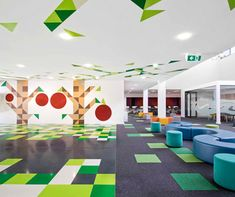 st mary's primary school by smith + tracey architects. an environmental motif that continues throughout the interior.