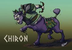 Chiron, the trainer of heroes. I have drawn for the web Character Design Challenge. — Quirón, el entrenador de héroes. Dibujado para el reto de la web Character Design Challenge.