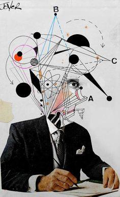 "Collage, ""mr know it all"" Collage Portrait, Collage Art, Dada Collage, Art Pop, Photomontage, Collages, Pablo Picasso, Art Plastique, Art Pictures"