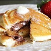 Pancakes fourrés au chocolat