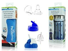3-in-One 7 oz Thermal Bottle Toddler Gift Set Blueberries...