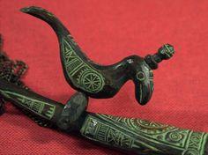 砂澤ビッキ 木彫 「木鈴ネックレス」 アイヌ 樹鳥が可動します_可動する樹鳥が愛らしいです