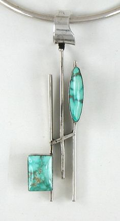 Authentic Native American Sterling Silver Fox Turquoise Pendant by Navajo…