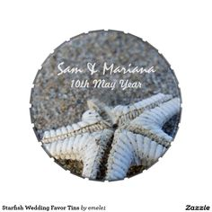 Starfish Wedding Favor Tins Jelly Belly Candy Tin