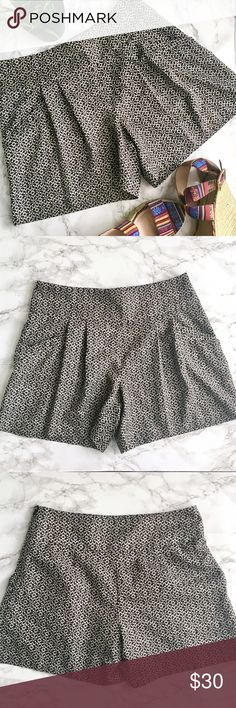 LOFT Patterned Drapey Pleated Shorts EUC no flaws silky feel drapey pleat front shorts with pockets! Beautiful boho pattern. Size 0. Light and breezy and perfect for summer! Last picture for style reference only. Please feel free to ask any questions before purchasing. I am happy to provide measurements/photos upon request!   ❣️Open to Offers unless Final Price ❣️No Trades or Holds ❣️Smoke Free Home ❣️Bundle Discounts! 15% off 2+ items LOFT Shorts