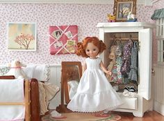 Doll Nightgown Full Length for Tiny Betsy McCall by GrandmasBliss, $12.00