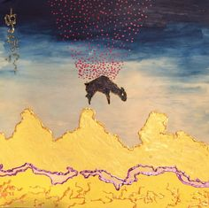 The drop // #art #painting #mixmedia #sheep