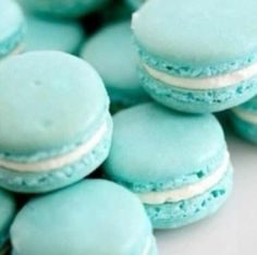 Tiffany Blue Macaron! Blueberry macaron with white chocolate ganache filling?