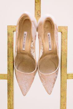 Manolo Blahnik wedding heels   @whenhefoundher   Brides.com
