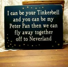 Tinkerbell Peter Pan Neverland wall art. We have this in the girls' room.