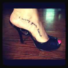 I carry your heart  So gorgeous! Getting some variation of this tattoo!!