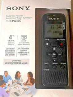 New Sony Digital Voice Recorder with USB MicroSD w/warranty Usb, Voice Recorder, The Voice, Sony, Electronics, Digital, Black, Drum Kit, Black People