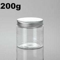 20pcs/1lot.200g PET plastic jar with aluminum cover.PET jar.Cream jar.Powder container.Split charging PET bottle.Beauty package