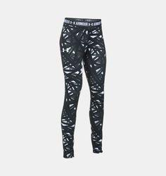 71815095ecdab5 Girls' UA HeatGear® Armour Printed Leggings Girls Capris, Girls Leggings, Under  Armour
