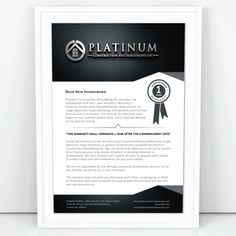 Create a modern luxurious certificate of workmanship warranty by White ∙ Design
