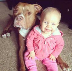 Todos os dias o cachorro esperava por esta garota. Quando ela fez 5 anos, tudo… Baby Animals, Cute Animals, Animal Babies, Human Babies, Dogs And Kids, Love Images, Cuddling, Pitbulls, Puppies