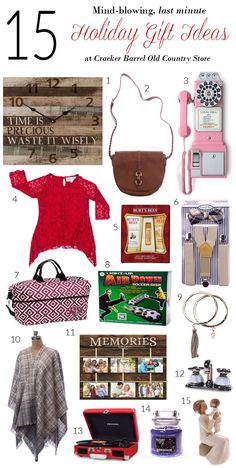 Cracker Barrel Last Minute Holiday Gift Guide - Some great ideas and tips here, especially if you're traveling on the road and still havent finished Christmas Holiday shopping.