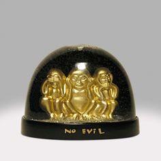See No Evil Monkeys Snow Globe