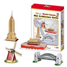 Mô hình giấy 4 mẫu kiến trúc thế giới (100 mảnh) | Cubic Fun | Mô hình giấy 3D Cubic Fun | 123.vn