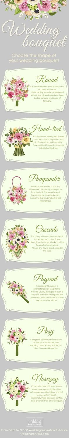 shapes of wedding bouquets