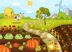Vegetable Garden Clipart Free Images 2 ClipartAndScrap School Vegetable Garden Clipart in 2020 Garden clipart Farm images Garden mural