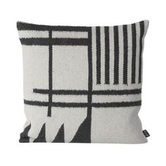 Kelim cushion black from Ferm Living