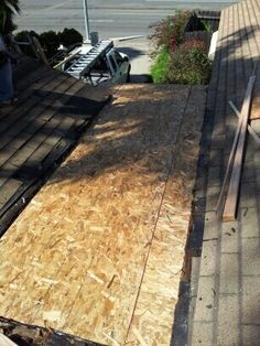 Repaired cricket top sheathing over sleepers