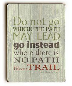 Look at this #zulilyfind! 'Leave a Trail' Wall Sign #zulilyfinds
