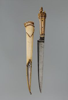 Dagger with Sheath ca. 1650–1700 Nepalese Ivory (elephant), steel, silver