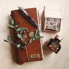 """To change your life, you have to change yourself. To change yourself, you have to change your mindset."" #travelersnotebook #twsbi #diamine"