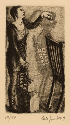 Art-exlibris.net - exlibris by Carla Fusi for Chiara Cecconi