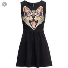 H&M Cat Face Skater Dress