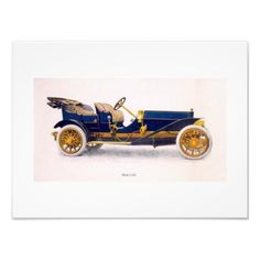Vintage Car Wall Art Lovely old illustration of a vintage car. Would look great in a den or man cave.