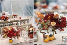 Centros de mesa especiales para otoño www.webnovias.com