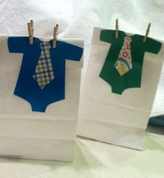 Little Man Baby Boy Baby Shower Favor Bags