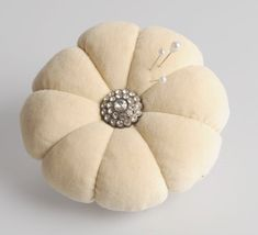 Velvet Pincushion by Miss Rose Sister Violet