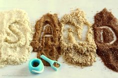 Edible Sand. Great for sand castle cakes, beach themed cakes and cupcakes or any cakes where sand is used as decoration! Check out this tutorial http://www.happyfoodstube.com/edible-sand #cakedecorating #cakeart #tutorials