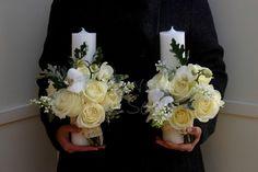 Flowers of Soul: Lumanari de cununie Wedding Decorations, Wedding Ideas, Floral Wreath, Make Up, Wreaths, Candles, Weddings, Ornaments, Xmas